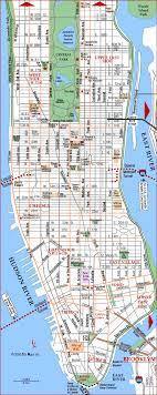 detailed map of new york manhattan map new york manhattan city and