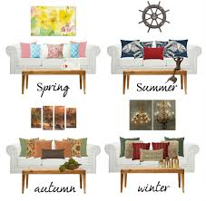 how to easily decorate living room by season