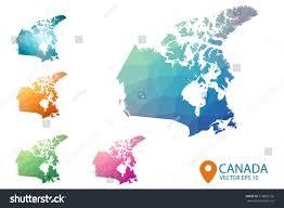 Canada Maps by Set Vector Canada Maps Bright Gradient Stock Vector 518805166