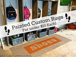 Utility Runner Rugs Custom Painted Runner Rugs Garage Mudroom Makeover East Coast
