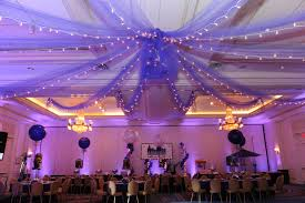 tulle decorations purple tulle with lights draped from ceiling wedding wishes