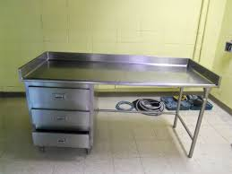 furniture captivating stainless steel prep table for kitchen gorgeous stainless steel prep table plus drawers and backsplash for kitchen furniture ideas