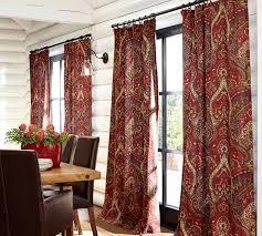 mira paisley linen cotton drape pottery barn oooh pretty