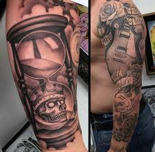 60 hourglass tattoo designs for men passage of time