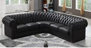 canape d angle 5 places cuir deco in canape d angle capitonne cuir chesterfield marron