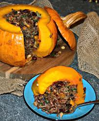roast stuffed pumpkin a vegan