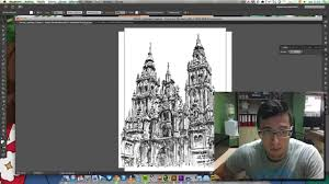 imagen blanco y negro en illustrator videotutorial vectorizar imagen blanco y negro illustrator cs6