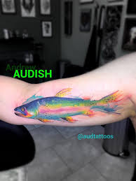 watercolor rainbow trout by andrew audish yelp
