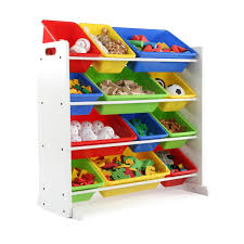 4 Tier Toy Organizer With Bins Furniture Toy Shelf Organizer Tot Tutors Toy Organizer Toy