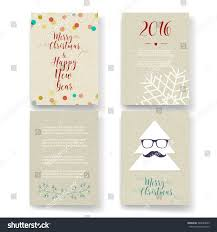 post card invitation christmas card templates christmas posters set stock vector