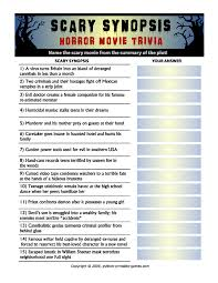 Halloween Quiz For Kids Printable by Halloween Printable Trivia U2013 Festival Collections