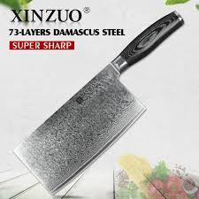 couteaux de cuisine japonais xinzuo 7 pouce couteau de cuisine japonais damas en acier couteau