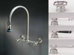 Kitchen Sink Faucet With Sprayer Exquisite Restorers Wall Mount 8 Center Kitchen Faucet With