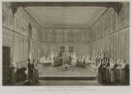 Ottoman Officials The Grand Vizier Offers Dinner Ifter To Other Ottoman Officials
