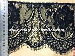 black lace trim 7 scalloped black lace fabric shrink resistant decorative lace