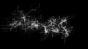 abstract electricity flow or electronic circuit node and grid line