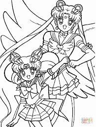 sailor chibi moon usagi tsukino coloring free printable