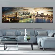 Big Living Room by Aliexpress Com Buy Modern Landscape Painting The Brooklyn Bridge