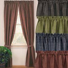 Country Plaid Valances Country Plaid Curtains Ebay