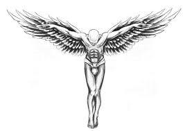 temporary tattoos back guardian wings transfer spray large