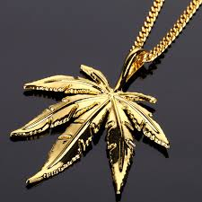 hemp necklace pendants images New gold color silver hemp leaf pendant necklace men women charm jpg