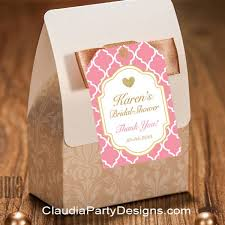 personalized bridal shower favors bridal shower thank you tags personalized bridal shower favor