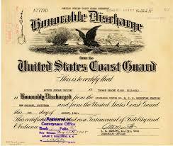 honorable discharge certificate u s coast guard reserve honorable discharge certificate tulane