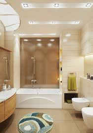 Bathroom Electrical Outlet Beige And Brown Bathroom Tiles Double Curved Shape Faucets Flowers