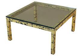 mid century modern sofa table silas seandel textured gilt steel coffee table modernism