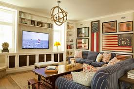 American Flag Living Room by American Flag Decorating Ideas Family Room Beach Style With