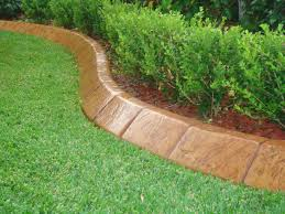 How To Do Landscaping by Cool Design Concrete Garden Edging Simple Decoration Garden Edging