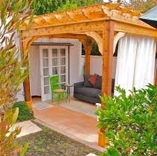 10 u0027 x 10 u0027 cedar 4 beam pergola mediterranean patio los