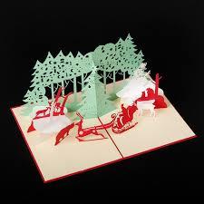 handmade santa ride christmas cards creative kirigami u0026 origami 3d
