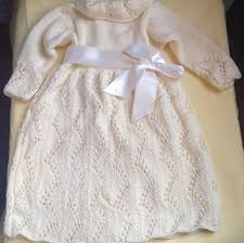 christening dress knit baby dress ivory knit baby dress