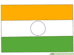 draw indian flag 7 steps pictures wikihow