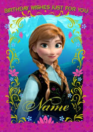 princess anna birthday card disney frozen funky pigeon