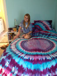 bedroom wonderful tie dye comforter decor with beds and pillow