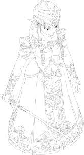 twilight princess zelda lines by lady of link on deviantart