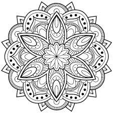 geometric designs coloring pages mandala free design patterns