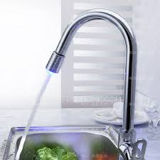 brass single hole kitchen sink led faucets