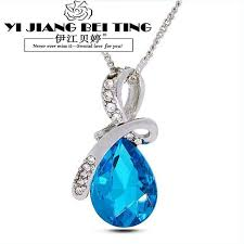 crystal drop pendant necklace images Water drop necklaces pendants gold and silver jewelry fashion jpg