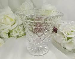 Vintage Waterford Cut Glass Crystal Vase Starburst Pattern Vintage Crystal Vase Etsy