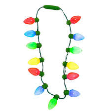 16 large light up tree light bulbs necklace costume