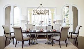 Pedestal Dining Room Sets by Bernhardt Miramont 7 Piece Extendable Double Pedestal Dining Room