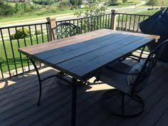 Patio Table Glass Replacement Diy Patio Table Using Fence Boards Great Solution For Glass Tops