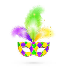 colors for mardi gras mardi gras traditional colors vector mask stock vector