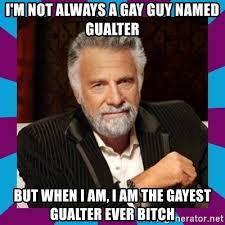 Gayest Meme Ever - i m not always a gay guy named gualter but when i am i am the
