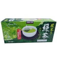kirkland signature green tea matcha blend 100 tea bags costco uk
