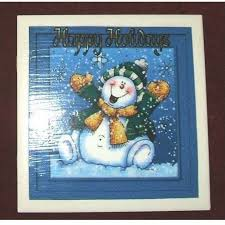 Old Christmas Cards Crafts - making a greeting card trivet thriftyfun