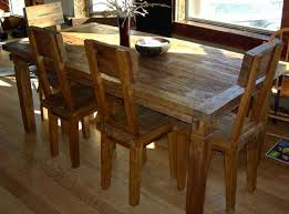 8 rustic teak wood furniture made of reclaimed wood dining chairs